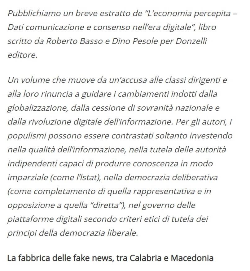 Screenshot of La base delle fake news_ le persone cercano gratificazioni, anche quando si informano - Formiche.net